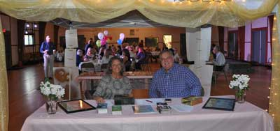 DVO board members Carol H. Diefenbach and Wayne Line manning the front table at the Callicoon Youth Center.