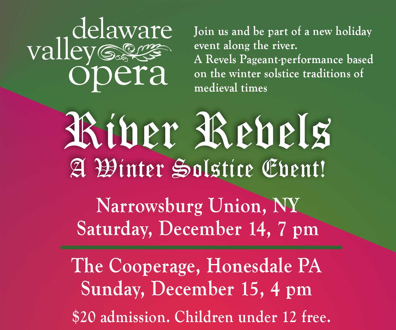 River Revels Winter Soltice Celebration